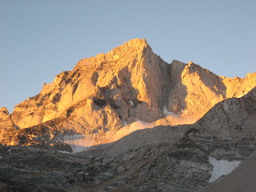 The Bear Creek Spire at sunrise
