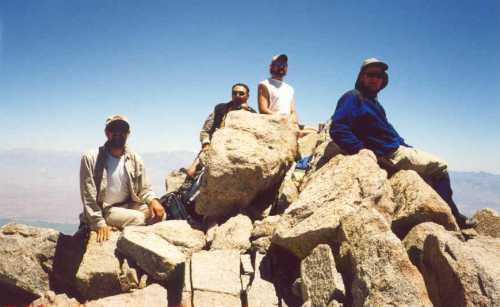 Foo'ball, Michael O., Schmed and Jim on summit of Checkered Demon