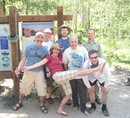Schmed, Laurel, Kirsten, Grant, Dan, Dave & Ken finally reach the trailhead