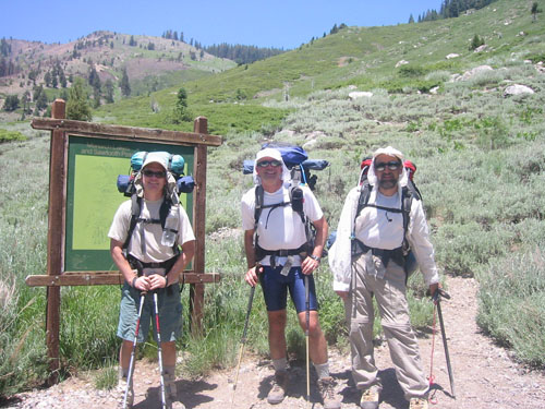 Dave, Schmed and Foo'ball at Mineral King trailhead