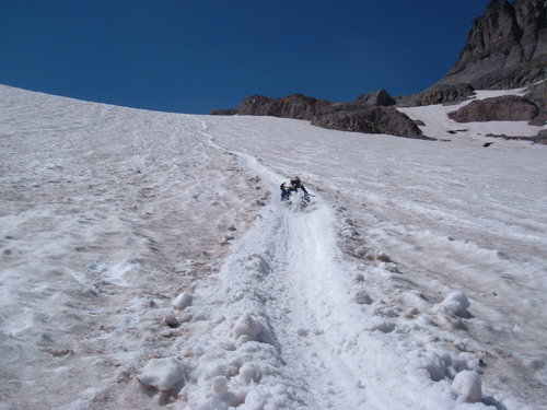 Glissading down from Camp Schurman