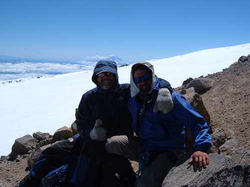 Schmed & Foo'ball on Mt. Rainier summit